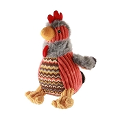 HuggleHounds Rocky the Rooster Plush Dog Toy, Large