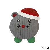 HuggleHounds Ruff-Tex Holiday Santa Mouse Dog Toy, Small