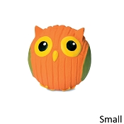 HuggleHounds Ruff-Tex Poppy the Owl Dog Toy, Small