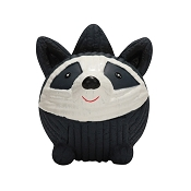 HuggleHounds Ruff-Tex Raccoon Squeaky Dog Toy, Large