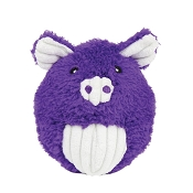 HuggleHounds Squooshie Ball Pig Plush Dog Toy