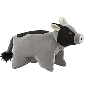 HuggleHounds Squooshie Cow Plush Dog Toy
