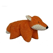 HuggleHounds Squooshie Fox Plush Dog Toy
