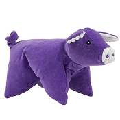 HuggleHounds Squooshie Pig Plush Dog Toy