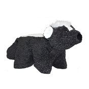 HuggleHounds Squooshie Skunk Plush Dog Toy