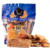 Kona's Chips Chicken Jerky Crunch Sticks USA Dog Treats, 16-oz Bag
