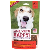 Look Who's Happy Fetch' n Fillets USA Beef Jerky Dog Treats, 8-oz Bag