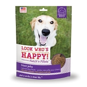 Look Who's Happy Fetch' n Fillets Bison Jerky Dog Treats