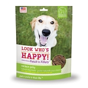 Look Who's Happy Fetch' n Fillets Venison Jerky Dog Treats