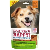 Look Who's Happy Tempt' n Tenders Chicken & Apple Recipe USA Dog Treats, 10-oz Bag