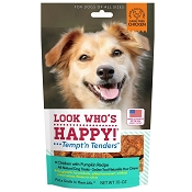 Look Who's Happy Tempt' n Tenders Chicken with Pumpkin USA Dog Treats, 10-oz Bag