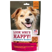 Look Who's Happy Tempt' n Tenders Chicken & Sweet Potato Recipe USA Dog Treats, 10-oz Bag