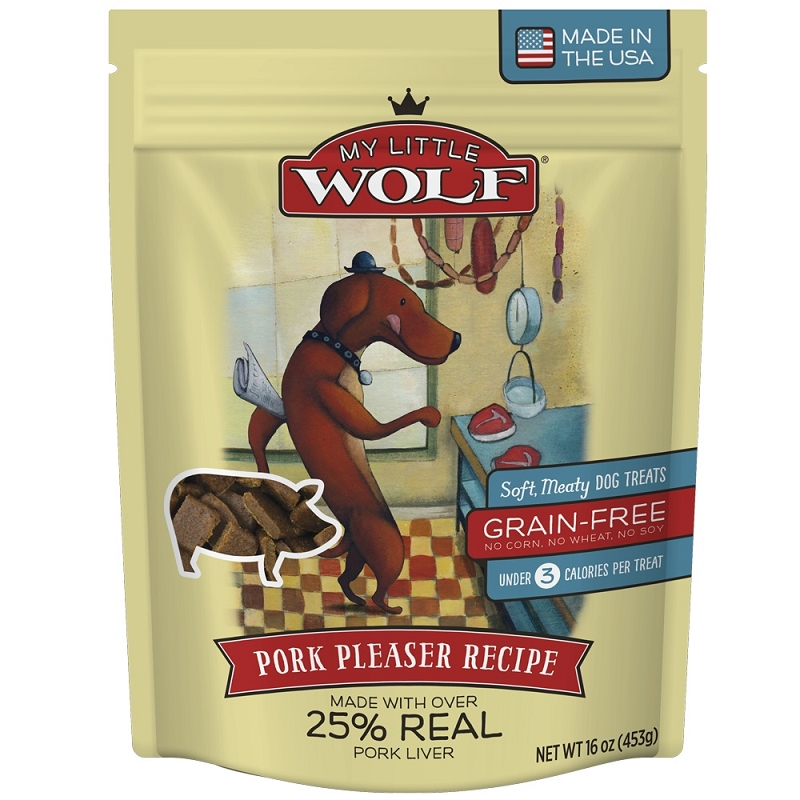 My Little Wolf Pork Pleaser Grain Free Dog Treats 16 Oz
