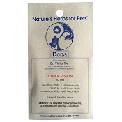 Nature's Herbs for Pets Clear Vision Formula Dog Supplement, 60-Count