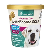 NaturVet ArthriSoothe Gold Level 3 Soft Chew for Small & Medium Dogs, 70 Count
