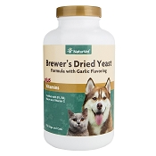 NaturVet Brewer's Yeast Formula Dog & Cat Tablets, 500 Count
