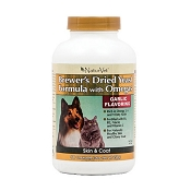 NaturVet Brewer's Yeast Formula with Omegas Dog & Cat Tablets, 500 Count