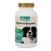 NaturVet Digestive Enzymes with Probiotics Dog & Cat Tablets, 90 Count