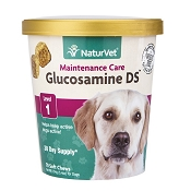 NaturVet Glucosamine DS Level 1 Soft Chews for Dogs, 70 Count
