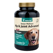NaturVet Senior Wellness Hip & Joint Advanced Formula Dog Tablets, 40 Count