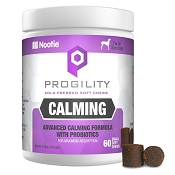 Nootie Progility Calming With Probiotics Supplement for Dogs, 60 Small Soft Chews