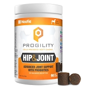 Nootie Progility Hip & Joint With Probiotics, Glucosamine, Chondroitin, MSM & Turmeric for Dogs, 90 Soft Chews