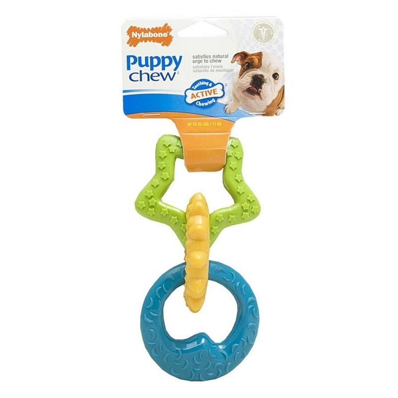 Nylabone Puppy Chew Teething Rings Dog Toy Naturalpetwarehousecom