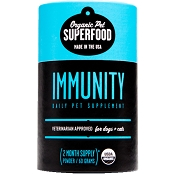 Organic Pet Superfood Immunity Supplement for Dogs