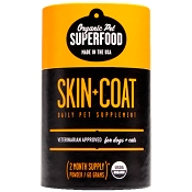 Organic Pet Superfood Skin and Coat Supplement for Dogs