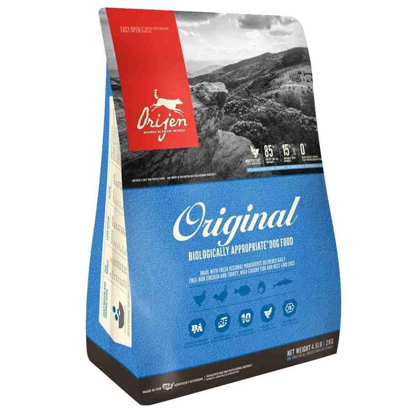 Orijen Original Grain Free Dry Dog Food 45 Lb Bag