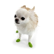 Pawz Waterproof Dog Boots, Green, Tiny