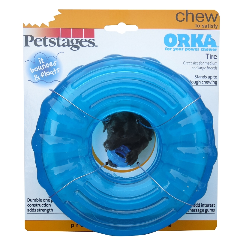 petstages orka tire dog chew toy naturalpetwarehouse