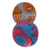 Planet Dog Orbee-Tuff Orbee Ball, Large - Pink/Blue