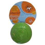 Planet Dog Orbee-Tuff Green Diamond Plate Ball Dog Toy