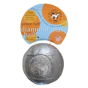 Planet Dog Orbee-Tuff Chrome Diamond Plate Ball Dog Toy