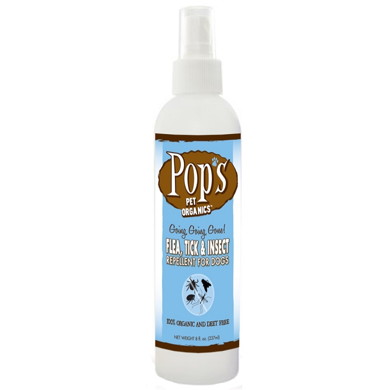 Pop's Pet Organics Flea, Tick & Insect Repellent Spray for