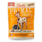Primal Buffalo Liver Snaps Dry Roasted Dog Treats