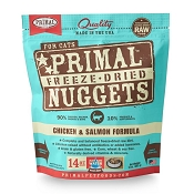 Primal Chicken and Salmon Nuggets Freeze-Dried Cat Food
