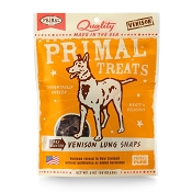 Primal Venison Lung Snaps Dry Roasted Dog Treats