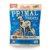Primal Pork Liver Munchies Freeze-Dried Dog Treats