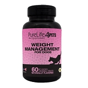 PureLife 4 Pets Weight Management Dog Supplement, 60-Count