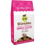 Snicky Snaks Shareables Coconut & Cranberry Recipe Granola Clusters Organic Dog Treats, 6-oz
