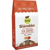 Snicky Snaks Shareables Oat & Maple Recipe Tea Cookies Organic Dog Treats, 6-oz