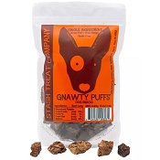 Stash Gnawty Puffs Beef Lung Dog Treats, 5-oz Bag