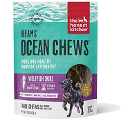 The Honest Kitchen Beams Ocean Chews Wolffish Skins Dehydrated Dog Treats, Talls