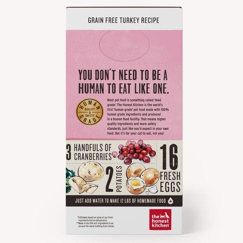 The Honest Kitchen Dehydrated Grain Free Turkey Recipe Cat Food 4