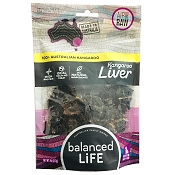 Balanced LiFe Air Dried Kangaroo Liver Dog Treats, 4-oz Bag