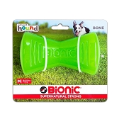 Bionic Bone Dog Toy, Green, Medium