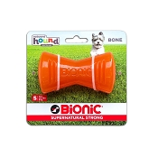 Bionic Bone Dog Toy, Orange, Small