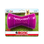 Bionic Bone Dog Toy, Purple, Large